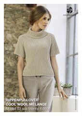 Trui met korte mouwen in Cool Wool Melange   Lana Grossa